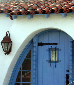 Spanish Colonial Revival detail, Monterey Lane, San Clemente